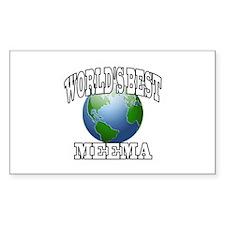 WORLD'S BEST MEEMA Rectangle Decal