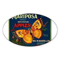 Mariposa Oval Sticker (10 pk)
