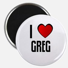 "I LOVE GREG 2.25"" Magnet (10 pack)"