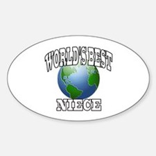 WORLD'S BEST NIECE Oval Decal