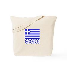 Greek Flag & Word Tote Bag