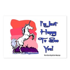 Naughty Unicorn Postcards (Package of 8)