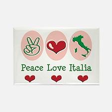 Peace Love Italia Italy Rectangle Magnet