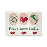 Peace Love Italia Italy Rectangle Magnet (10 pack)