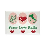 Peace Love Italia Italy Rectangle Magnet (100 pack