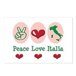 Peace Love Italia Italy Postcards (Package of 8)