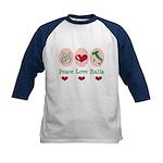 Peace Love Italia Italy Kids Baseball Jersey