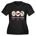 Peace Love Italia Italy Women's Plus Size V-Neck D