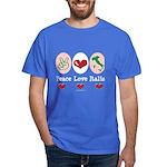 Peace Love Italia Italy Dark T-Shirt