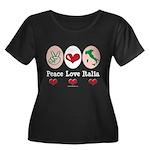 Peace Love Italia Italy Women's Plus Size Scoop Ne