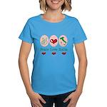 Peace Love Italia Italy Women's Dark T-Shirt
