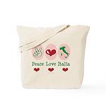 Peace Love Italia Italy Tote Bag