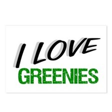 """I Love GREENIES"" Postcards (Package of 8)"