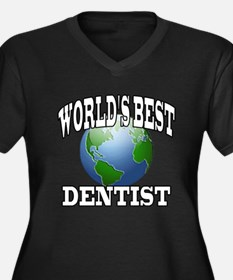 WORLD'S BEST DENTIST Women's Plus Size V-Neck Dark