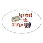 Tips should fold Oval Sticker (10 pk)