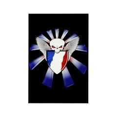 French Defender Shield Rectangle Magnet