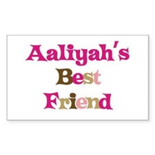 Aaliyah's Best Friend Rectangle Decal