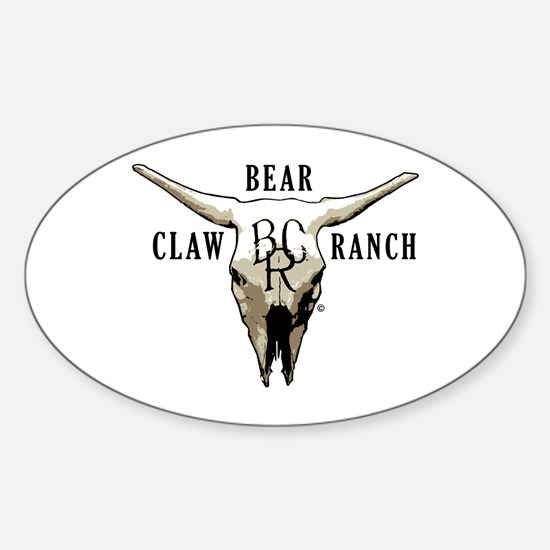 Bear Claw Ranch Oval Decal