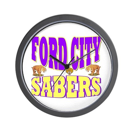 FORD CITY SABERS Wall Clock