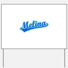 Retro Melina (Blue) Yard Sign