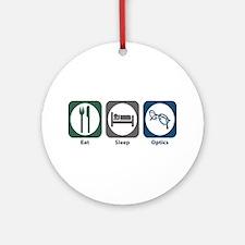 Eat Sleep Optics Ornament (Round)