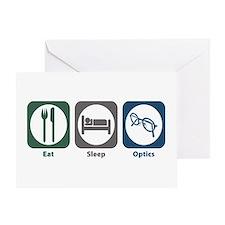 Eat Sleep Optics Greeting Card
