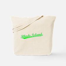 Retro Rhode Island (Green) Tote Bag