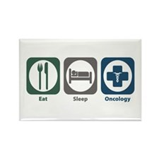 Eat Sleep Oncology Rectangle Magnet