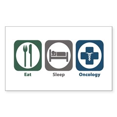 Eat Sleep Oncology Rectangle Sticker 10 pk)