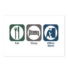 Eat Sleep Office Work Postcards (Package of 8)