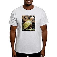 Albino Red Ear Slider Grey T-Shirt