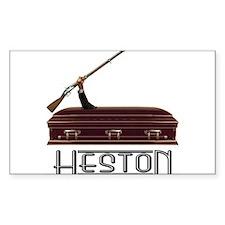 The Heston Rectangle Bumper Stickers