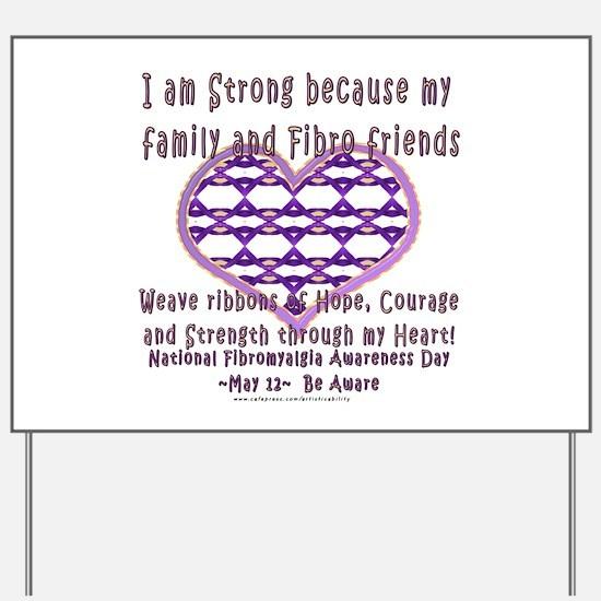 Family & Fibro Friends Weave Yard Sign