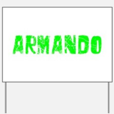Armando Faded (Green) Yard Sign