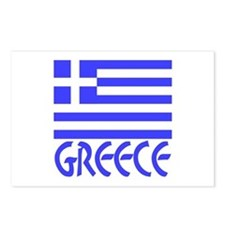 Greek Flag & Word Postcards (Package of 8)