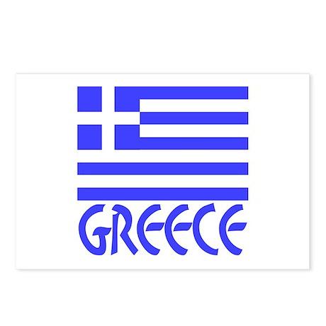 Greek Flag & Word Postcards (Package of 8)