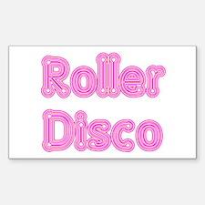 Roller Disco Rectangle Decal