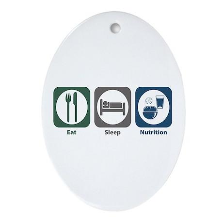 Eat Sleep Nutrition Oval Ornament