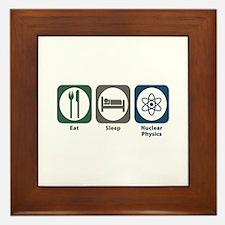Eat Sleep Nuclear Physics Framed Tile
