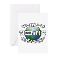 WORLD'S GREATEST THERAPIST Greeting Card