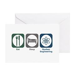 Eat Sleep Nuclear Engineering Greeting Card