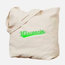 Retro Wisconsin (Green) Tote Bag