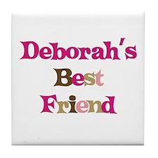 Deborah's Best Friend Tile Coaster