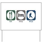 Eat Sleep Ninja Yard Sign