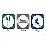 Eat Sleep Ninja Small Poster