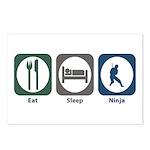 Eat Sleep Ninja Postcards (Package of 8)