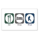 Eat Sleep Ninja Rectangle Sticker 50 pk)