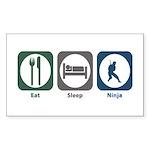 Eat Sleep Ninja Rectangle Sticker 10 pk)