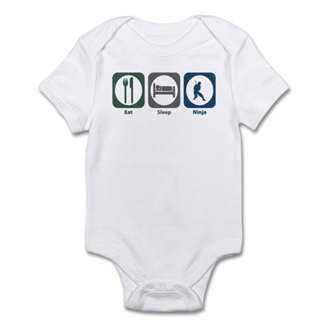 Eat Sleep Ninja Infant Bodysuit