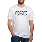 Eat Sleep Ninja Fitted T-Shirt